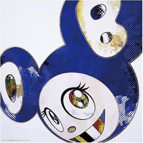 Takashi Murakami - And Then x6 (Blue: The Polke Method)