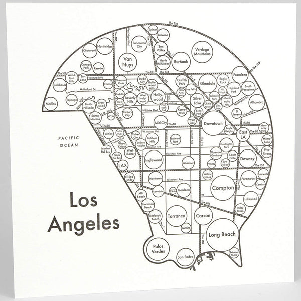 Archie's Press - Circle City Map Silkscreen Large Print (Los Angeles)