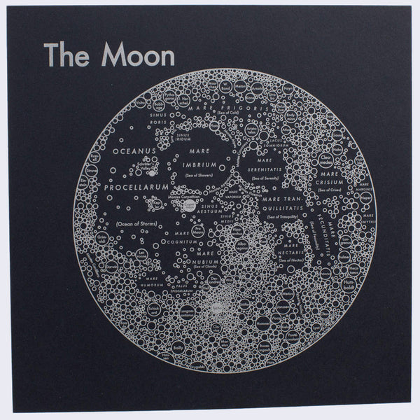 Archie's Press - Circle Map of the Moon Large Silkscreen Print