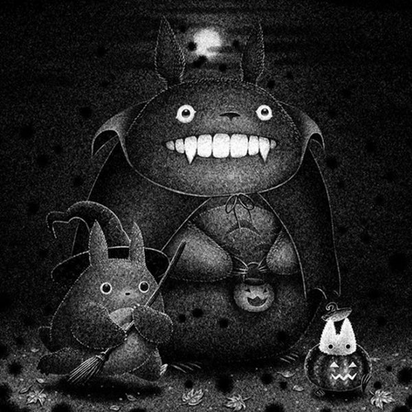 Brian Luong - Trick or Treat Totoro print