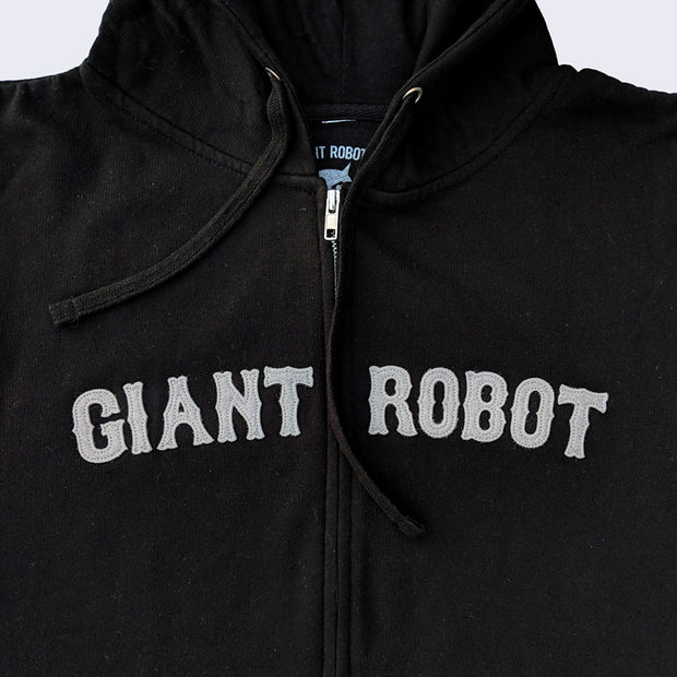 Giant Robot - Retro Zip Hoody (Black and Grey)