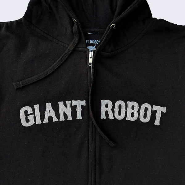 Giant Robot - Retro Hoody (Black and Grey)