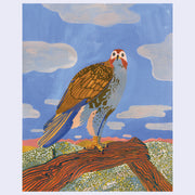 "Bird Show - Ariel Lee - ""Red-tailed Hawk Perched"" (Original or Print)"