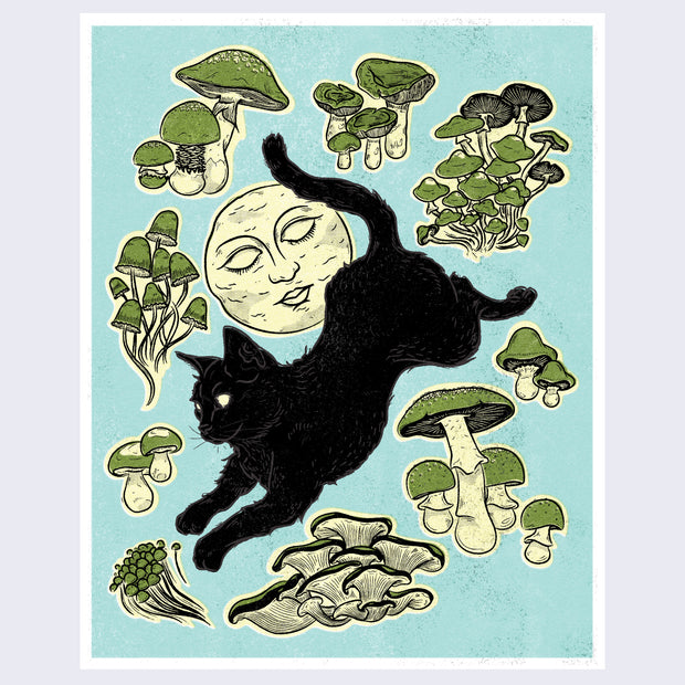 "The Neko Show - Bree Rawn - ""Mushrooms"" (framed/unframed)"