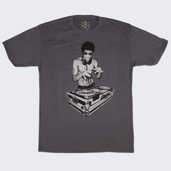 Bow and Arrow - Bruce Lee DJ T-shirt (Charcoal Gray)
