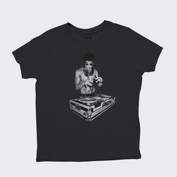 Bruce Lee DJ Child T-shirt (Charcoal Gray)