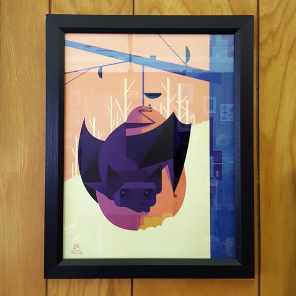 Bryan Wong - Fruit Bat (framed print)