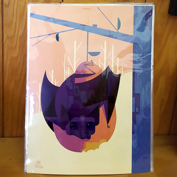 Bryan Wong - Fruit Bat (unframed print)