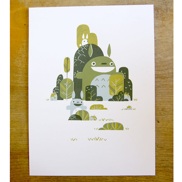 Bryan Wong - Totoro Forest Print