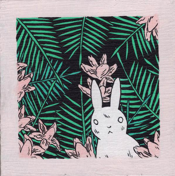 Deth P Sun - White Rabbit with Palm Leaves - #71