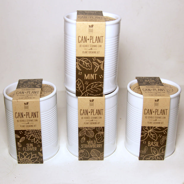 Can + Plant White Ceramic Growing Kit (Assorted)
