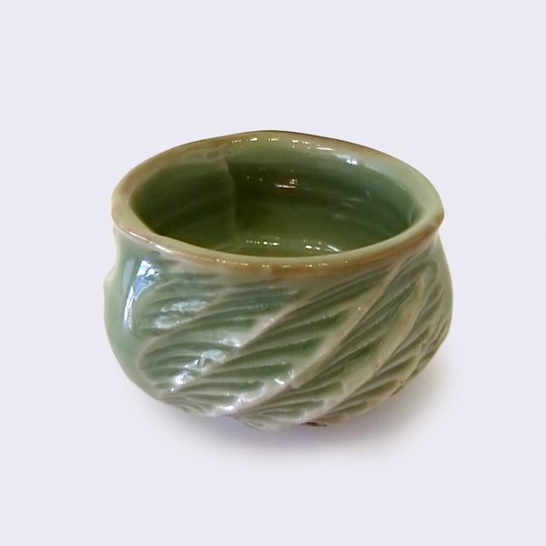 City of Lost Angels - Ceramic Hard Carved Cup (Medium Warm Green)