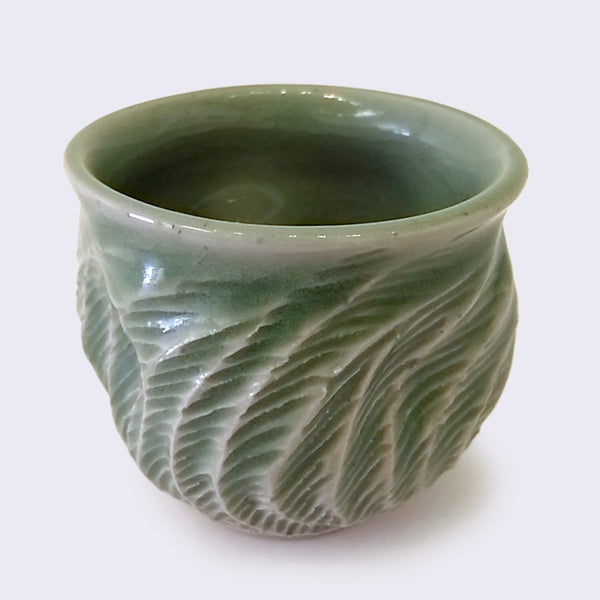 City of Lost Angels - Ceramic Hard Carved Cup (Large Green)