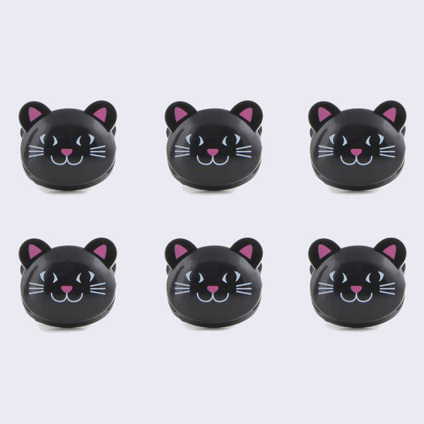 Black Cat Bag Clip Set