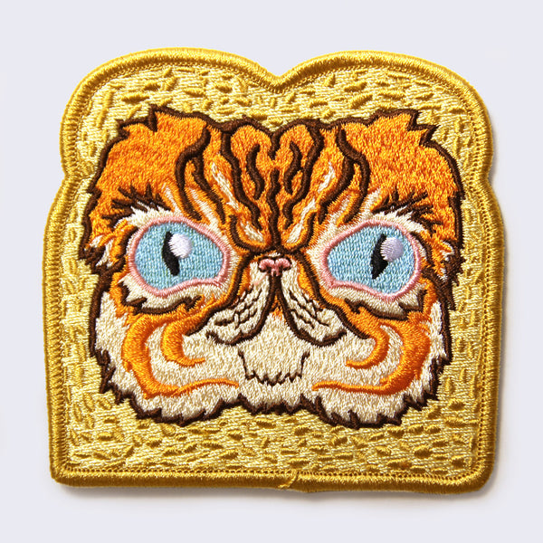 Kernel Turd - In-Bread Cat Embroidered Patch