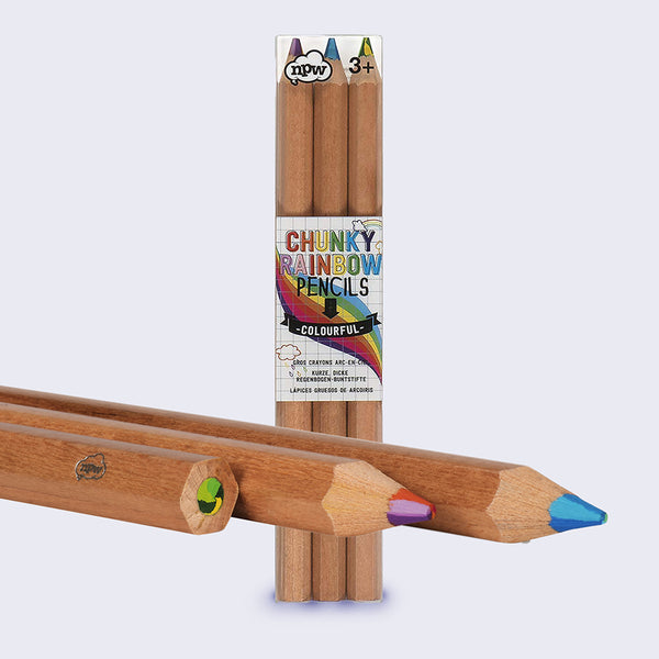 Chunky Rainbow Colored Pencils