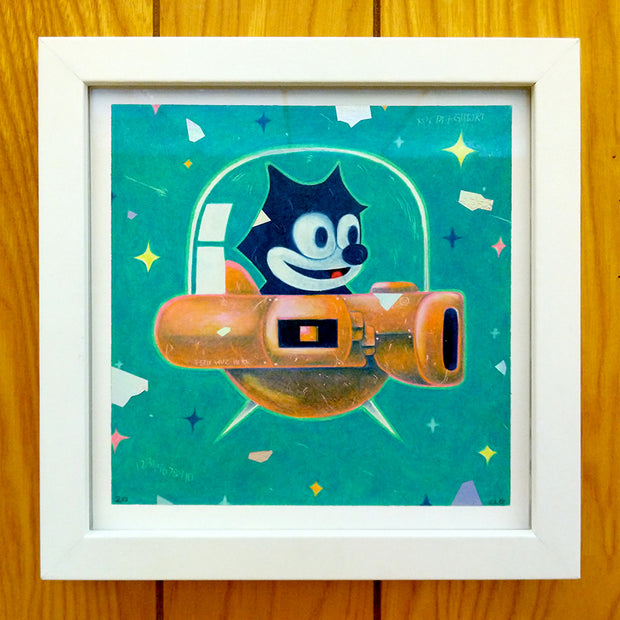 "The Neko Show - Christian Leon Guerrero - ""Spaceship Felix""  (Original or Print)"