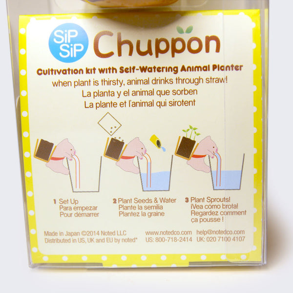 Chuppon - Self-Watering Animal Planter (Cat & Mint)