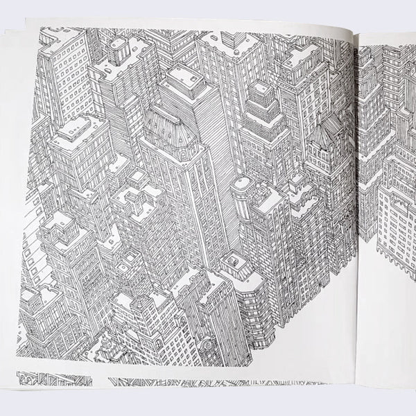 Fantastic Cityscapes Coloring Book