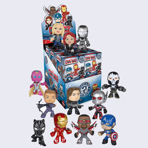 Funko x Marvel - Captain America: Civil War Mystery Mini Bobble Head Figure