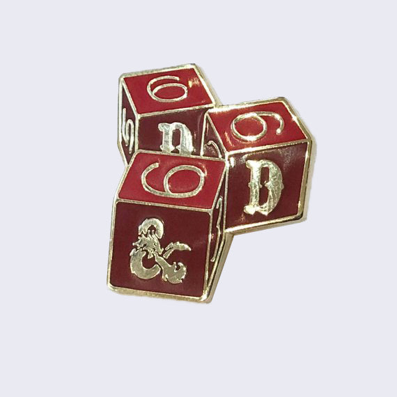 Giant Robot - Dungeons and Dragons Dice Enamel Pin