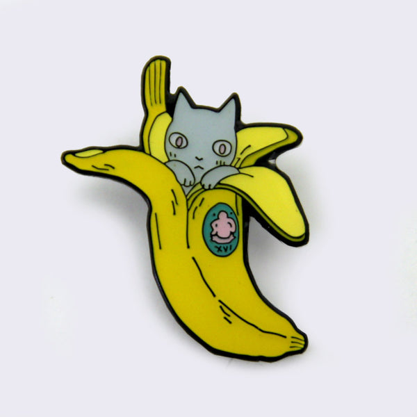 Take A Penny Co. - Artist Series: Deth P. Sun Banana Cat Enamel Pin