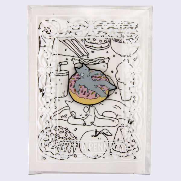 Take A Penny Co. - Artist Series: Deth P. Sun Donut Cat Enamel Pin