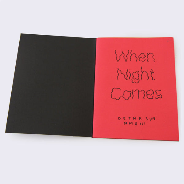 Deth P. Sun - When Night Comes Zine