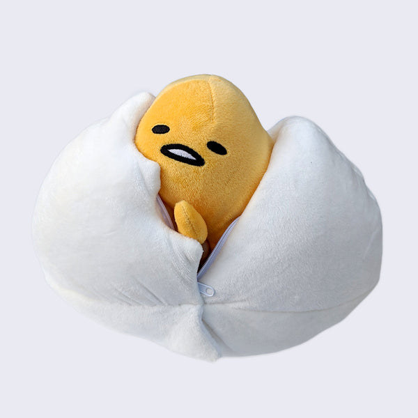 Gudetama Hide-Away Cracked Egg Plush