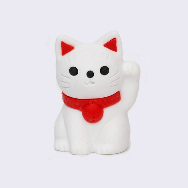 Mini Classic Lucky Cat Eraser (White)