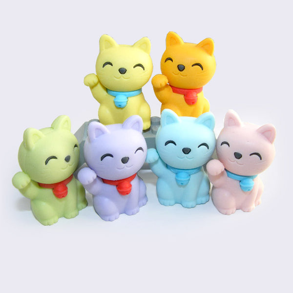 Mini Lucky Cat Eraser (Assorted)