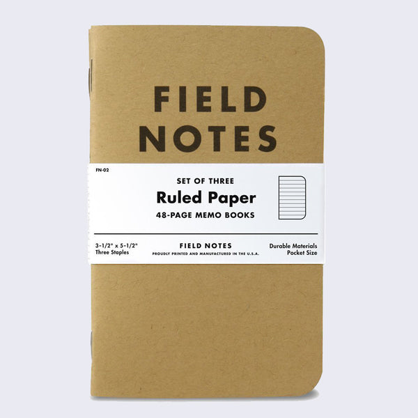 Field Notes - Set of Three Memo Book (Kraft)
