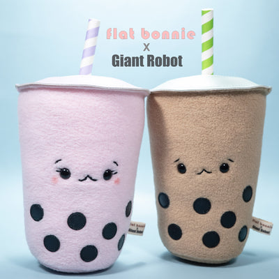 Flat Bonnie x Giant Robot - Boba Plush (Milk Tea or Strawberry)