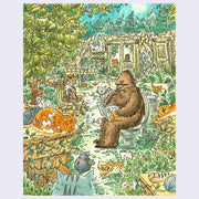 "Deep Forest Show - Brenda Chi - ""M.R. Foot and Cats"" Art Print"