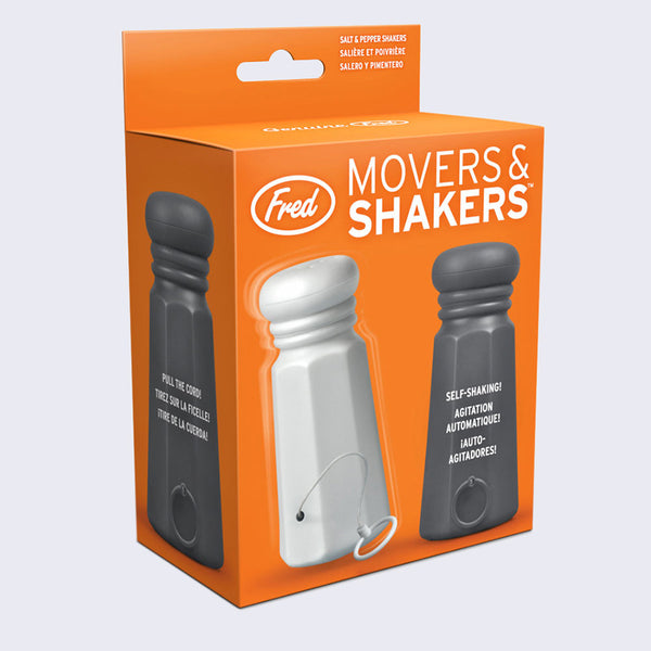 Fred - Movers & Shakers: Self-Shaking Salt & Pepper Shakers