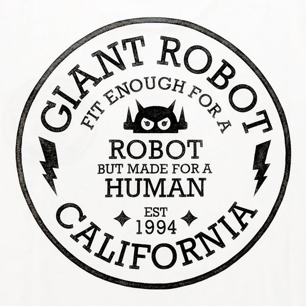 Giant Robot - Circle Motto T-shirt (Black on White)