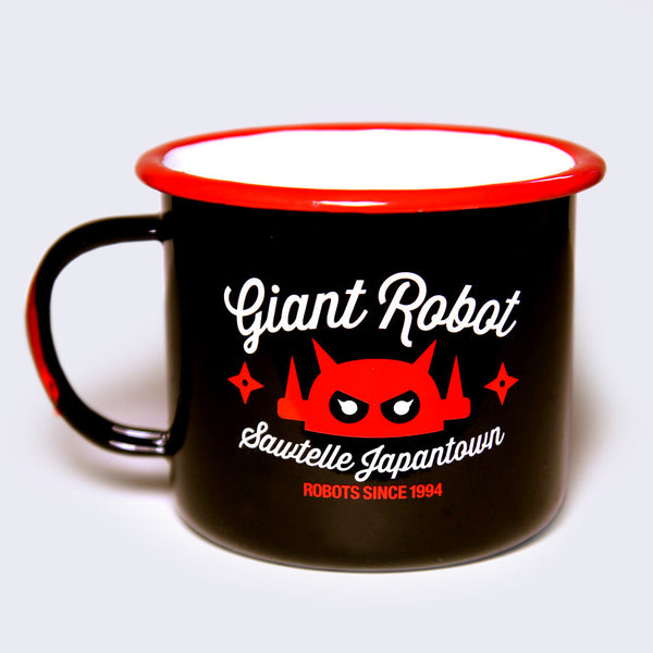 Giant Robot - Big Boss Robot Camping Mug (Black)