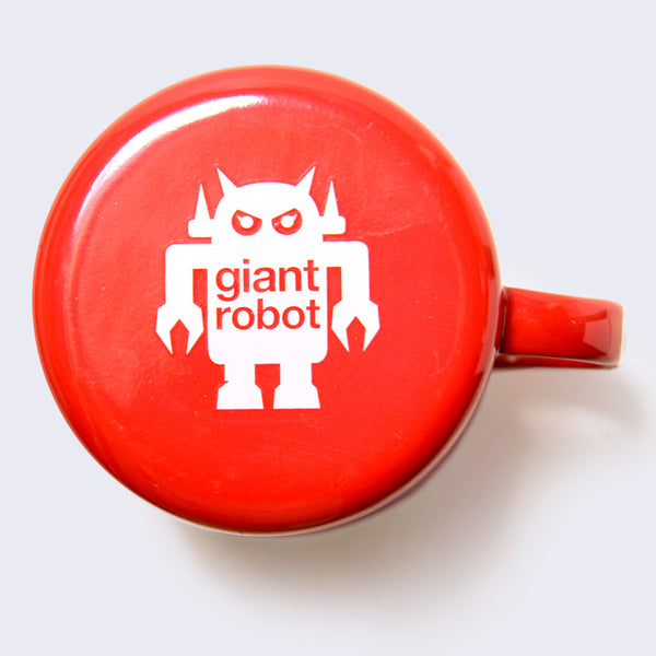 Giant Robot - Big Boss Robot Camping Mug (Red)