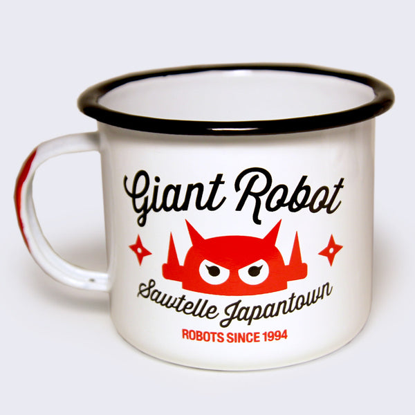Giant Robot - Big Boss Robot Camping Mug (White)