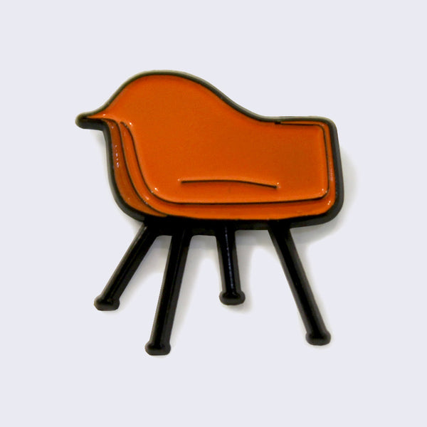 Giant Robot - Iconic Molded Plastic Arm Chair Enamel Pin