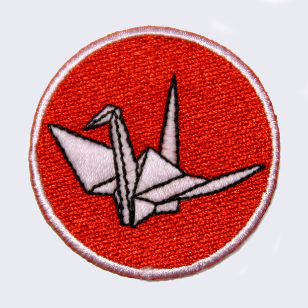 Giant Robot - Origami Crane Embroidered Patch