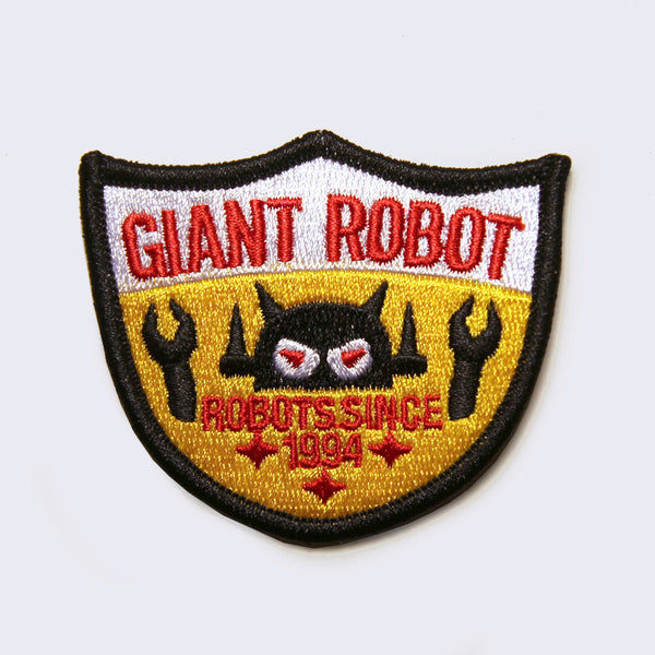 Giant Robot Embroidered Patch (Shield)
