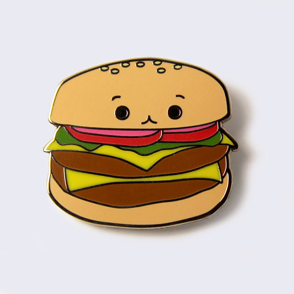 Giant Robot - Cheeseburger Enamel Pin