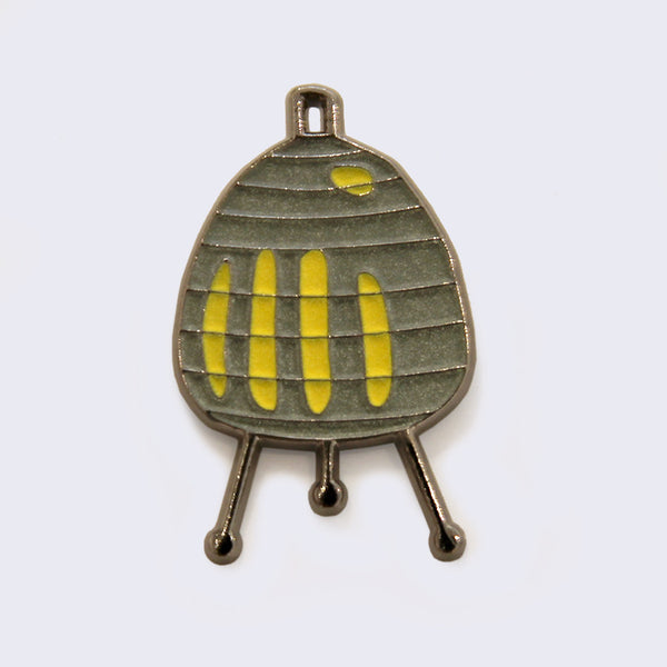 Giant Robot - Noguchi Akari Table Lamp Enamel Pin (Glow-in-the-Dark)