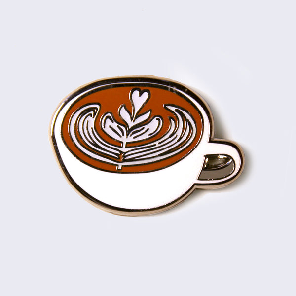 Giant Robot - Latte Enamel Pin (Glow-in-the-Dark)