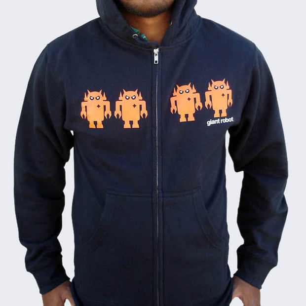 Giant Robot - Robot Army Hoody (Navy Blue/Orange)