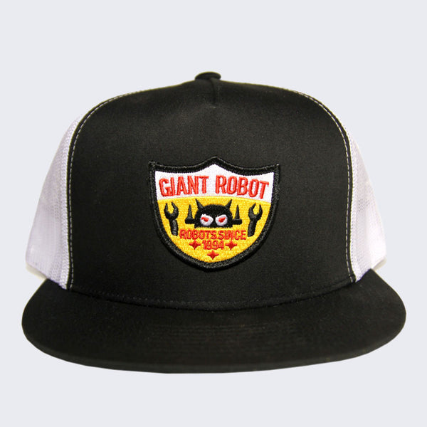 Giant Robot - Big Boss Robot Shield Hat (Black Mesh)