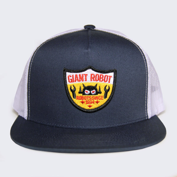 Giant Robot - Big Boss Robot Shield Hat (Navy Blue Mesh)