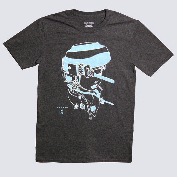 Katsuya Terada X Giant Robot - Hot Pot Girl T-shirt (Dark Heather - Glow in the Dark Edition)