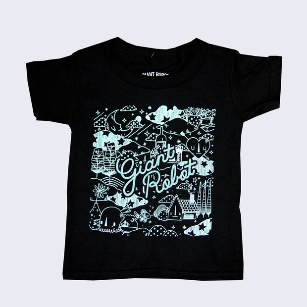 Yoskay Yamamoto x Giant Robot - Happy Habitat Child T-shirt in Black